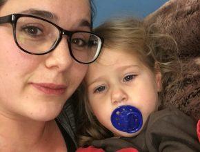 Mulle og mor på Herlev hospital natten til den 21.12. 15