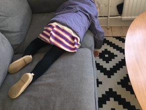 Ballondag var en hård dag, så Mulle tog sig lige en velfortjent lur